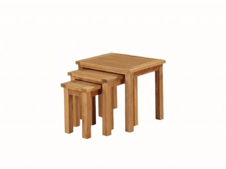 "city oak nest of 3 tables ""53 cm wide x 45 cm deep"